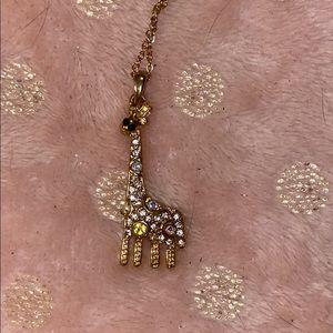 Giraffe pendant necklace